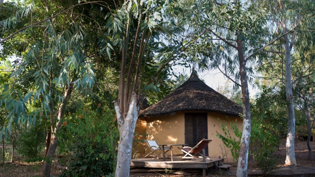 A picture of one of the resort's bungalows