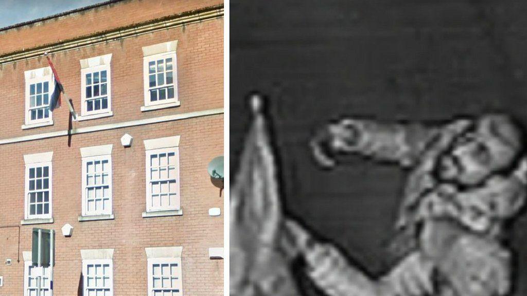 Iraqi consulate and CCTV image of man