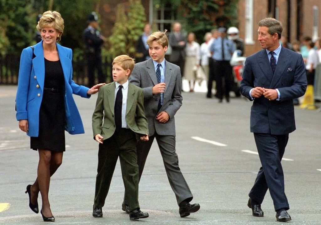 On 16 September 1995, Princess Diana and Prince Charles joined Prince William for his first day at Eton College