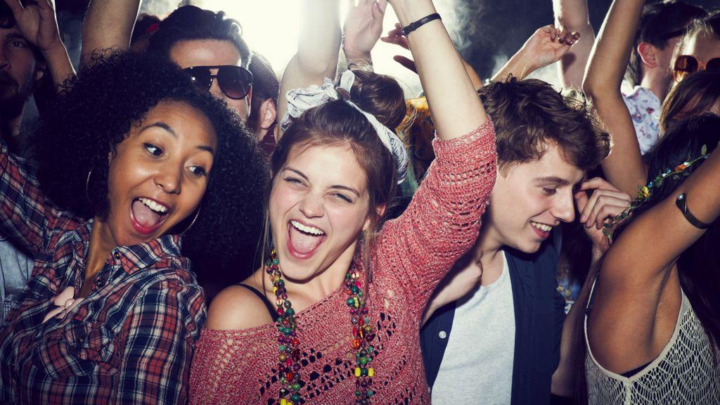 Dancing at a gig