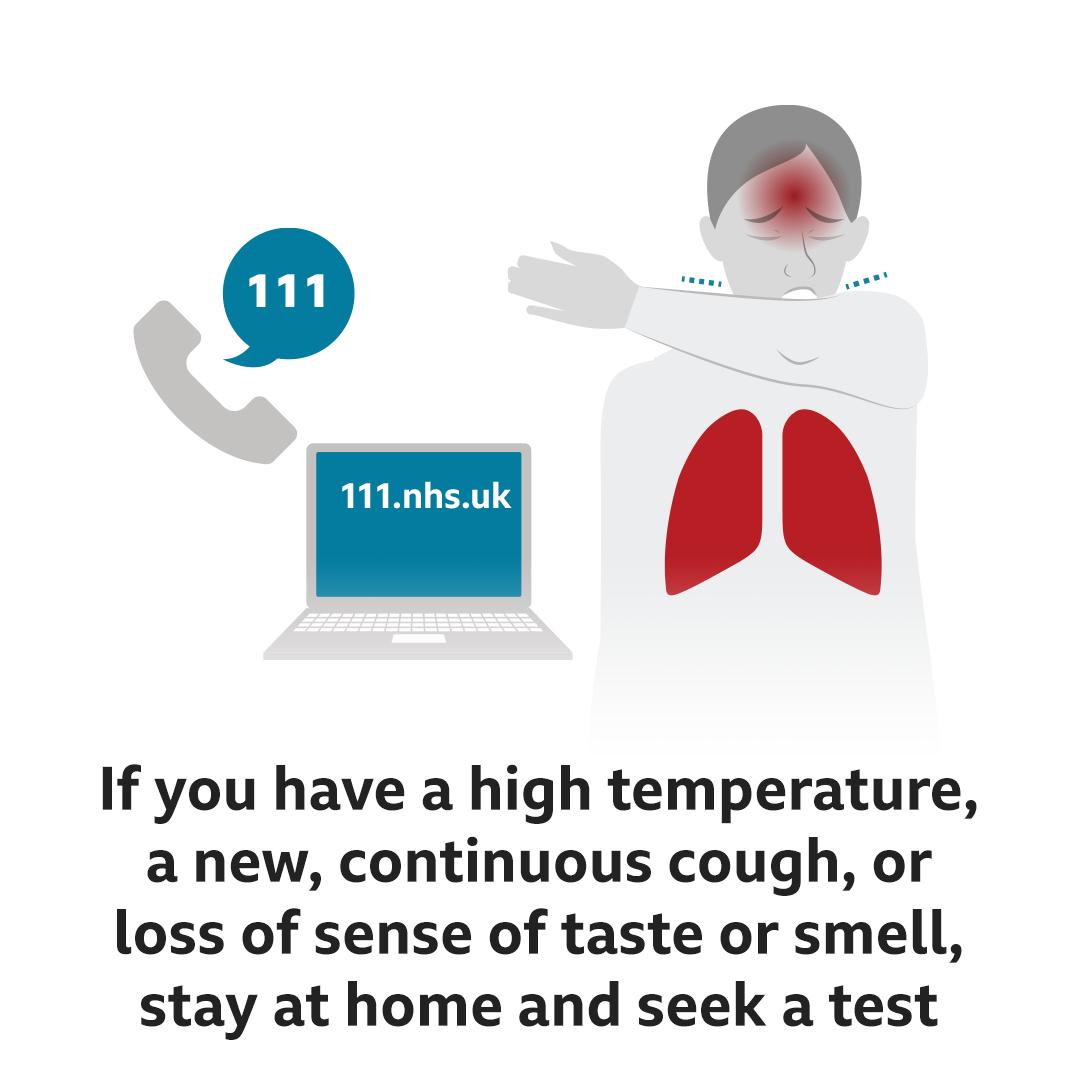 If you have symptoms, seek a test