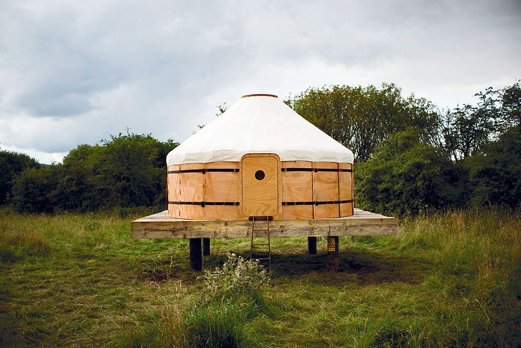 Yurt in Dumfries and Galloway, Scotland, UK