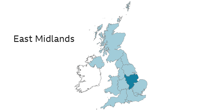 Map Of Uk Midlands.2019 European Elections List Of Candidates For The East Midlands
