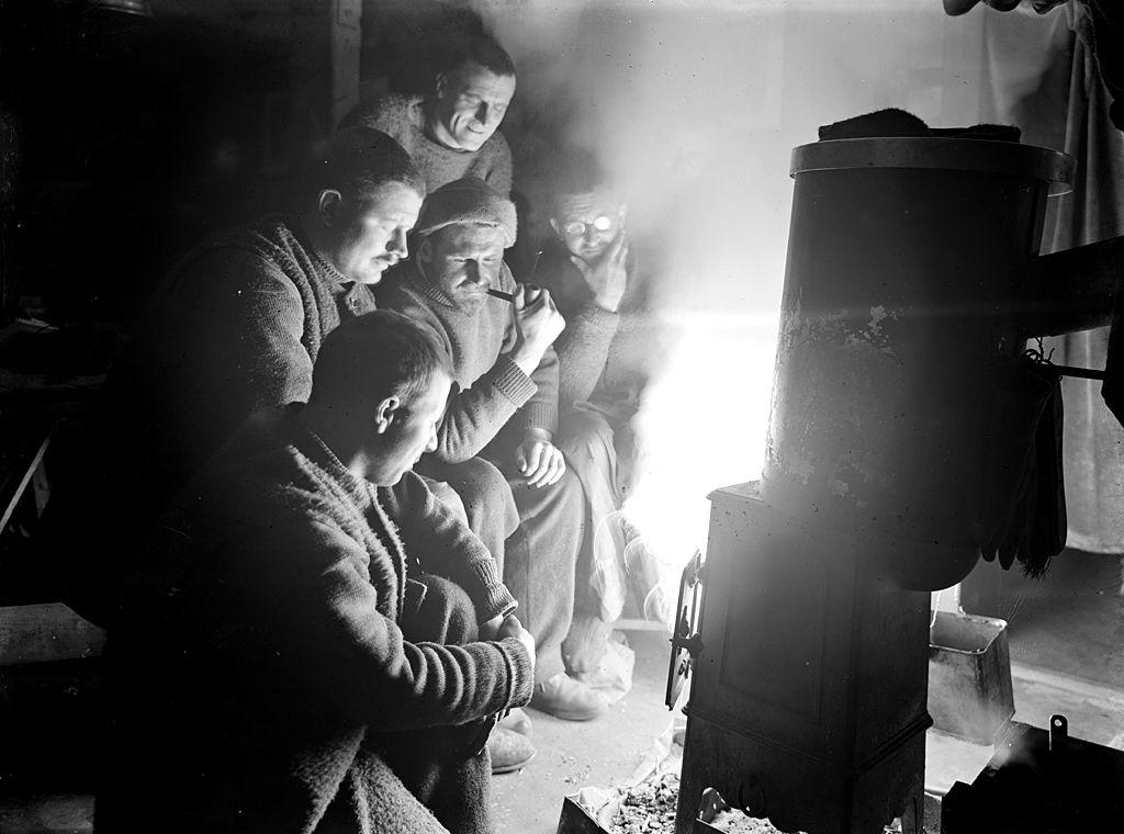 Men by a furnace