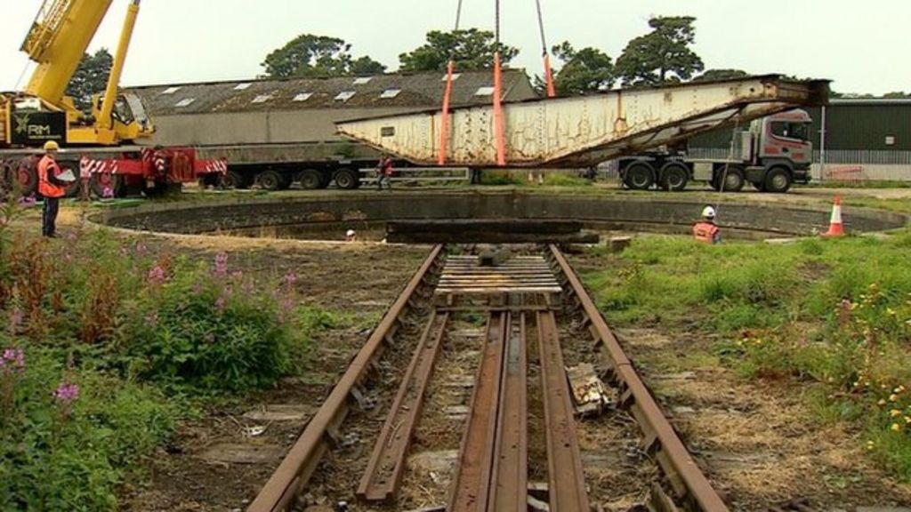 Historic Aberdeen railway turntable removed as part of steam
