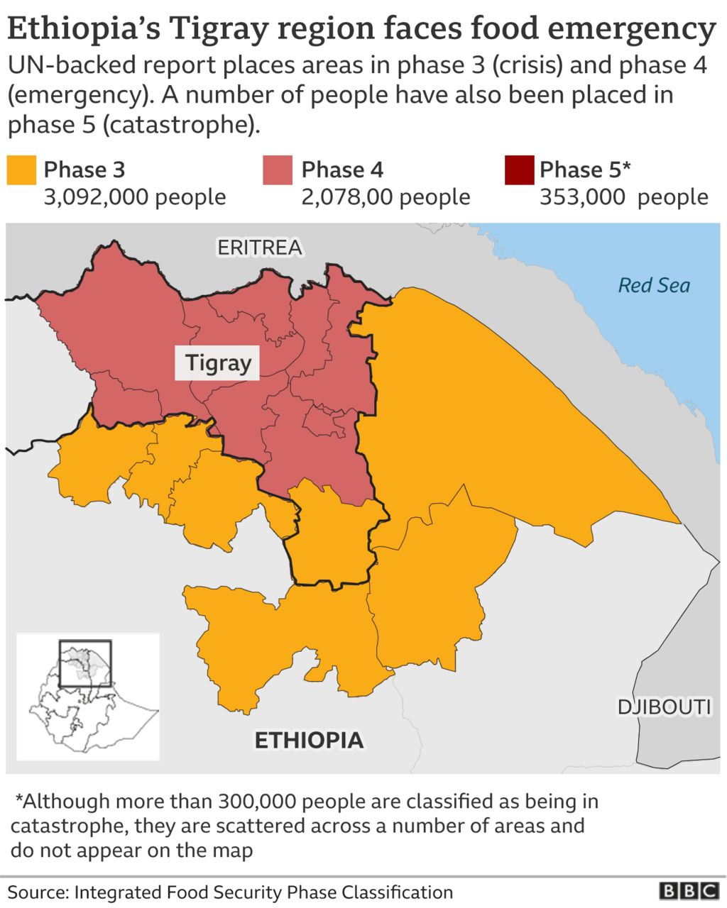 map of Tigray