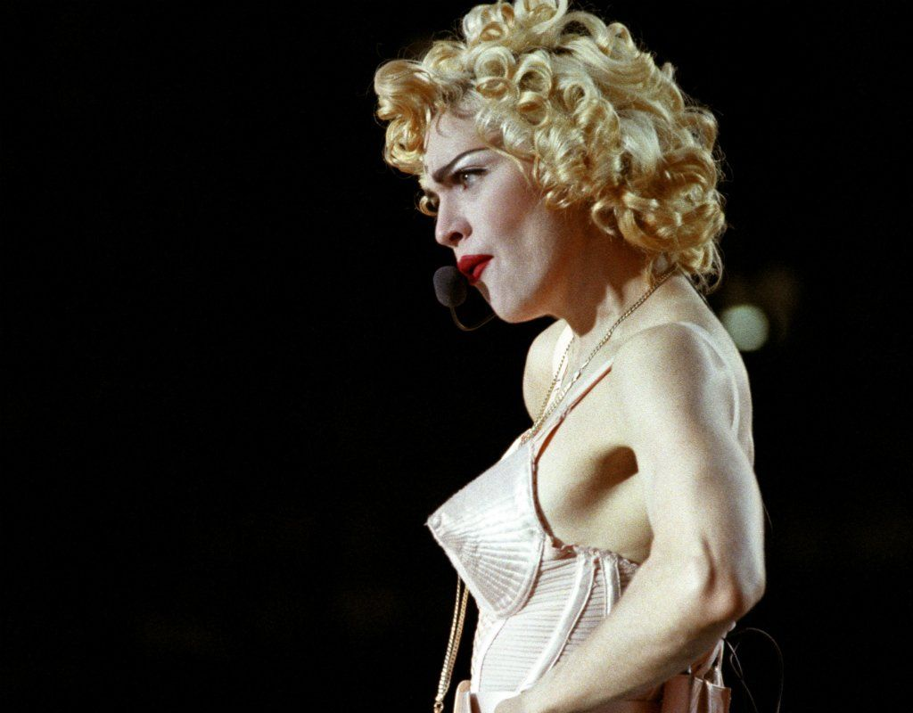 Madonna plays Wembley in 1990