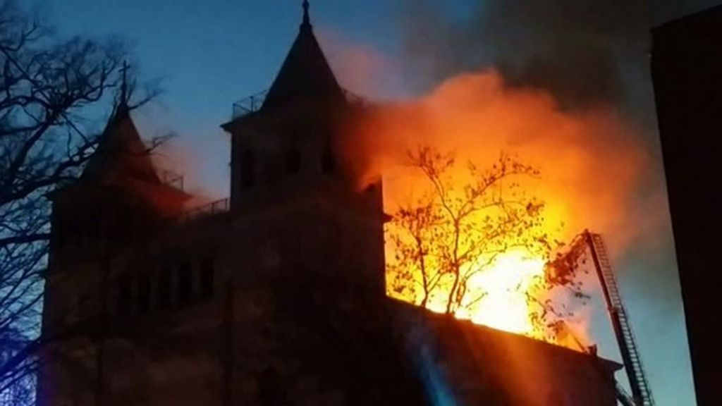 Historic Polish church partly destroyed by fire - BBC News  Historic Polish...