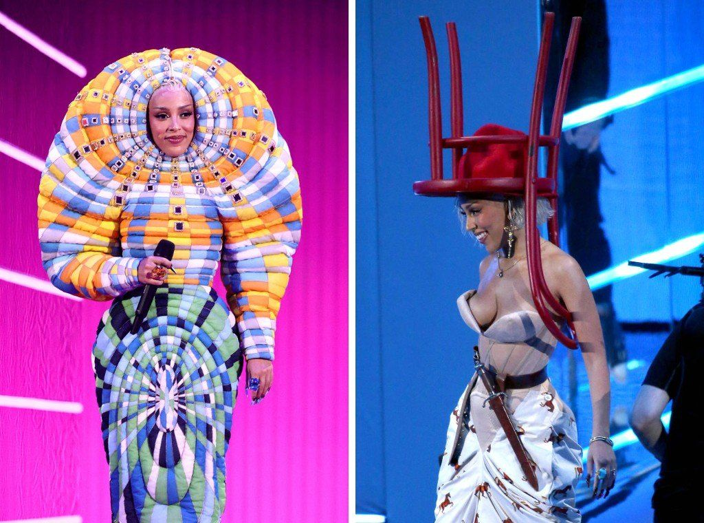 Doja Cat's outfits at the MTV Awards