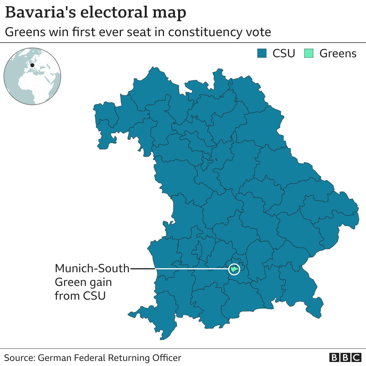 Bavaria's electoral map