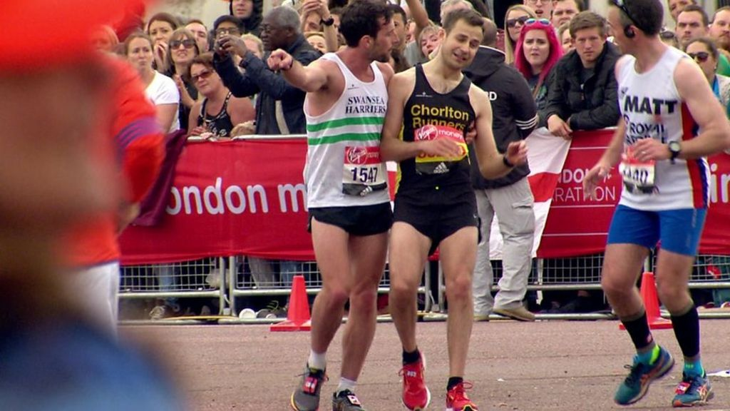 London Marathon runners on that special moment