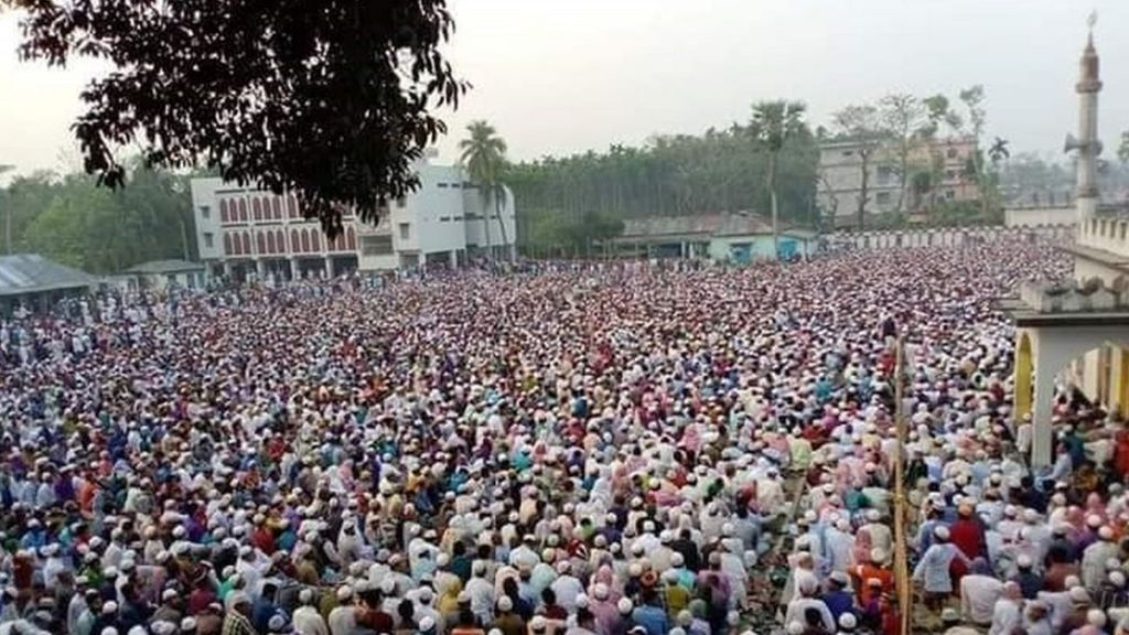 Coronavirus: Bangladesh mass prayer event prompts alarm - BBC News