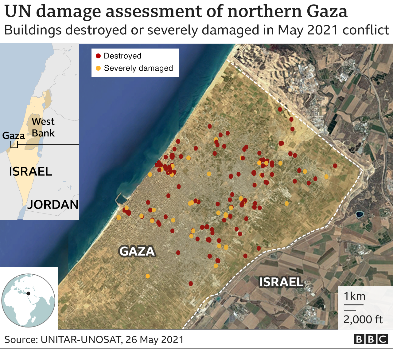 UN damage assessment of northern Gaza after May 2021 conflict
