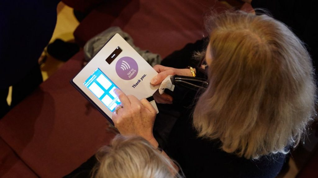 Church of England: Contactless collection payments trialled