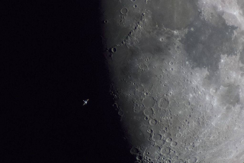 ISS Terminator Moon - by Daniel Fernandez Caxete (Our Moon, Runner Up)