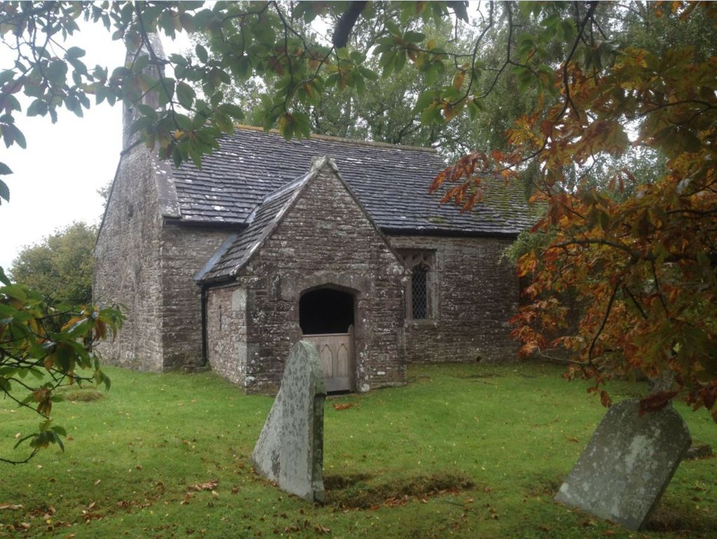 The Church of the Holy Cross in Kilgwrrwg, where Able Seaman Richard Morgan is buried