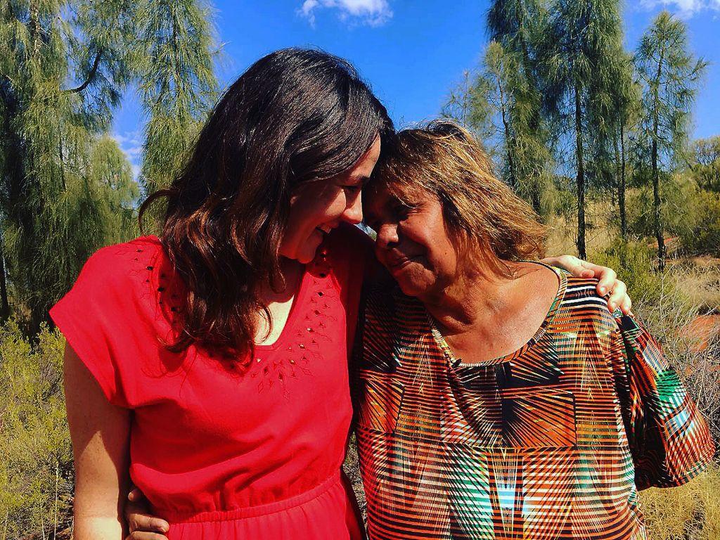 Alison Hunt and Rebecca Henschke share a hug