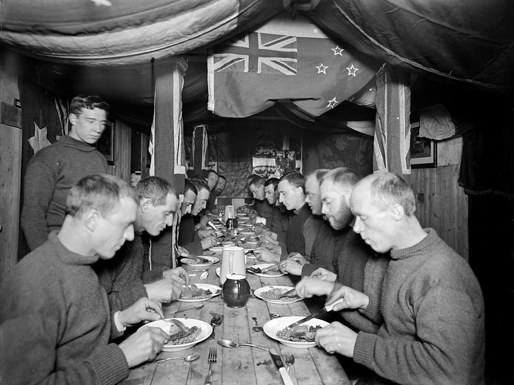 Midwinter dinner on board Endurance