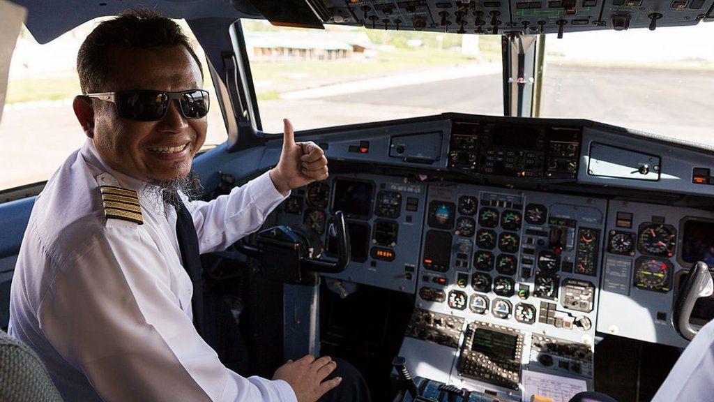 An Indonesian airline pilot