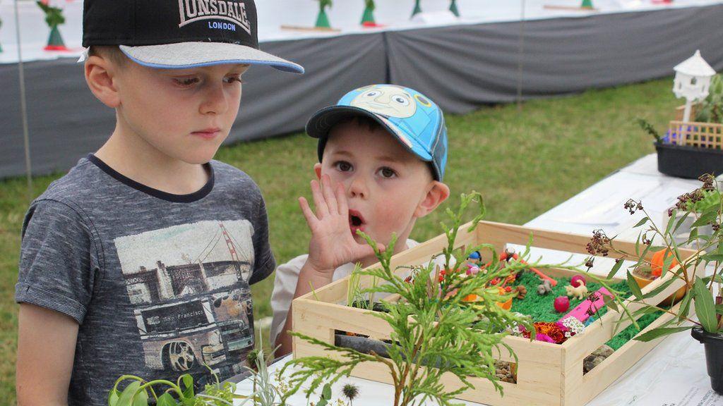 Ianto a Cian y garddwyr ifanc // Are Ianto and Cian budding gardeners?