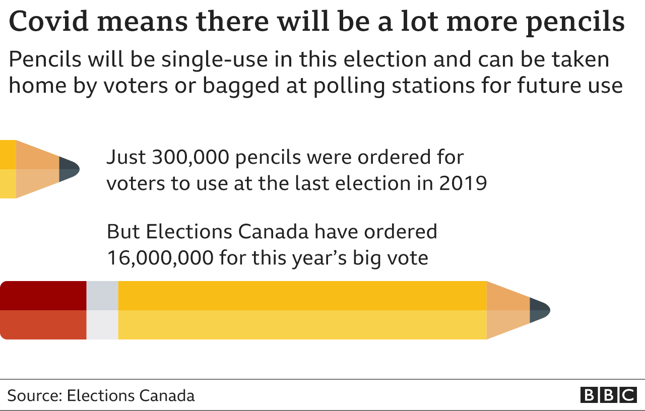 Graphic showing the number of golf pencils ordered to file out paper ballots this year