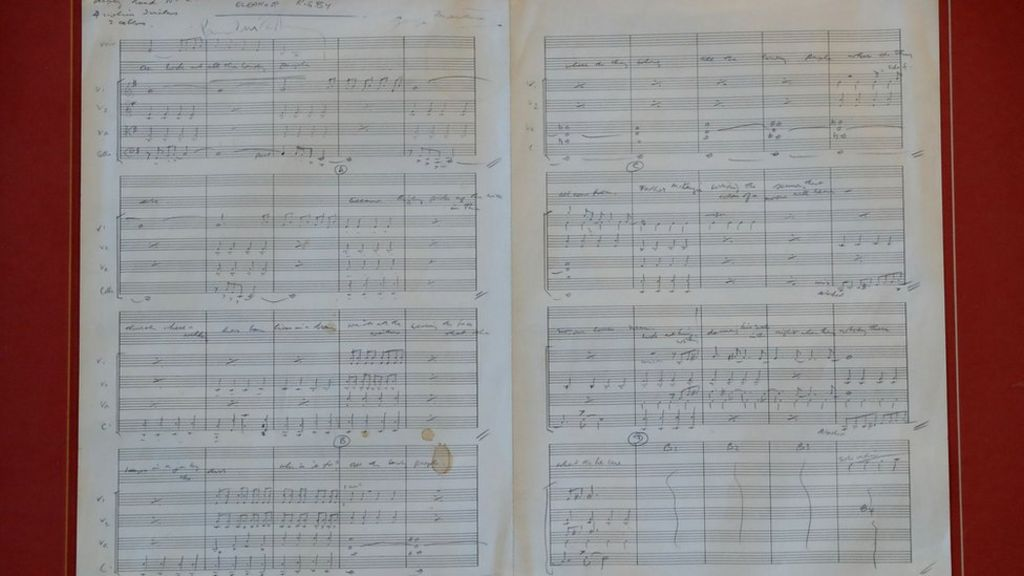 Beatles' original Eleanor Rigby score up for auction
