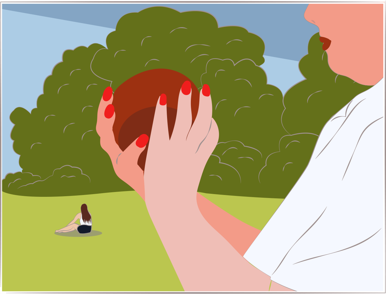 Illustration of a female bowler