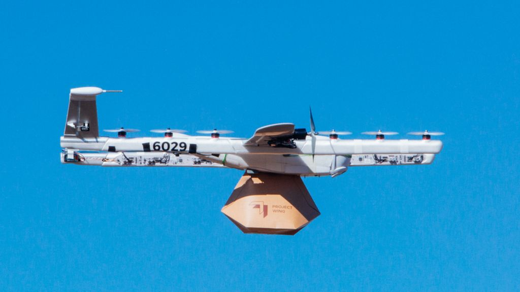 bbc.co.uk - Google Wing drones approved for US home deliveries