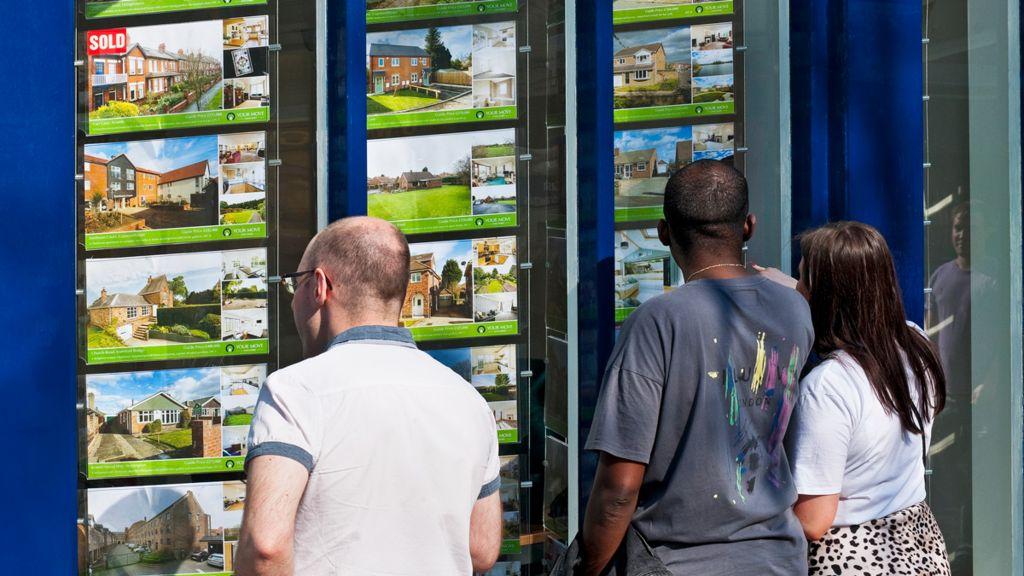 Estate agent's window in York