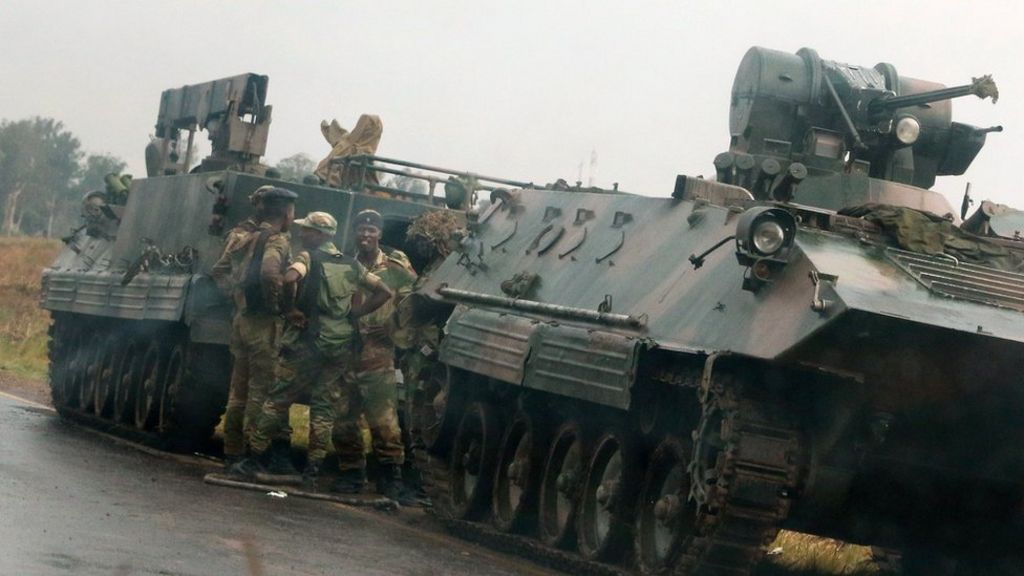 Zimbabwe crisis: Soldiers 'take over broadcaster ZBC'