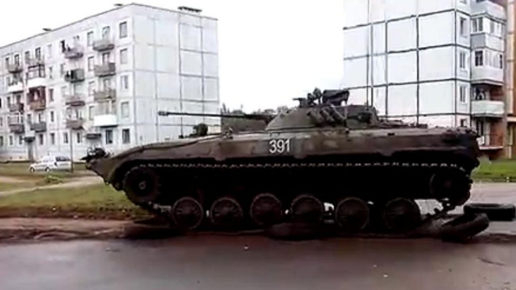 Belarus Villagers Complain Of Army Tanks On Lawn Bbc News