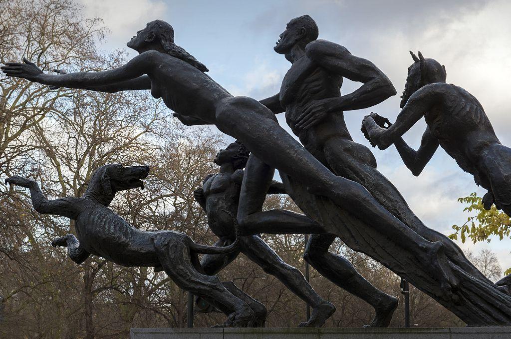 Pan Statue by Jacob Epstein, 1958-9 - Knightsbridge, London.