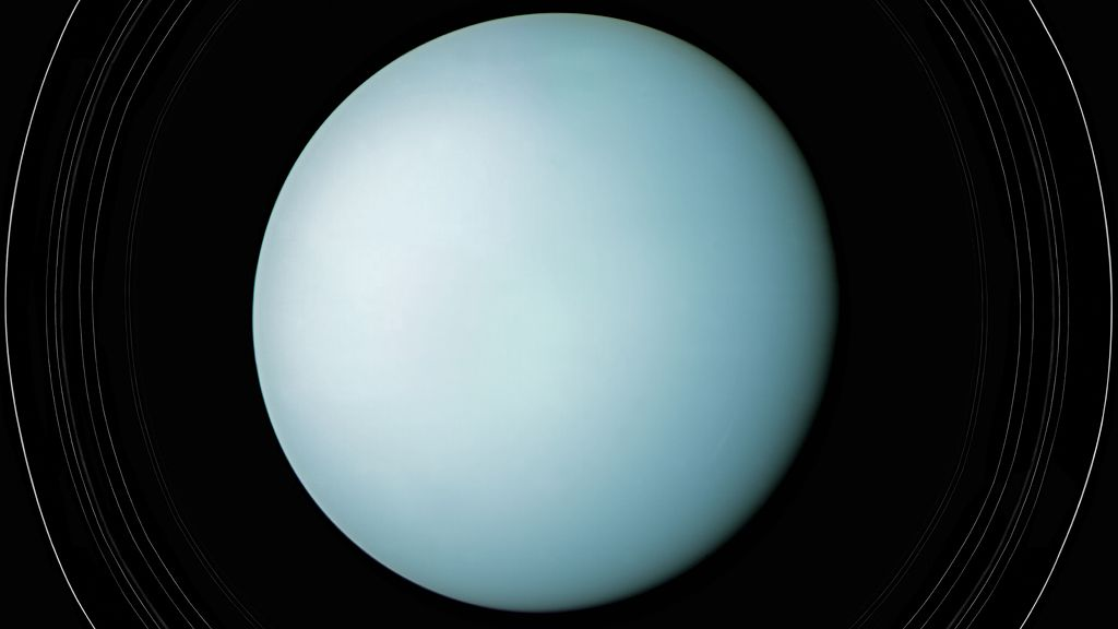 Uranus and its rings, 1986 (detail)