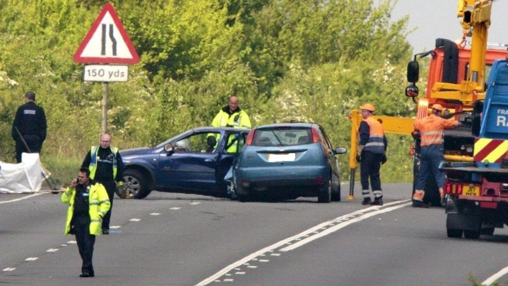 Elton fatal crash: Two cars involved and road closed - BBC News