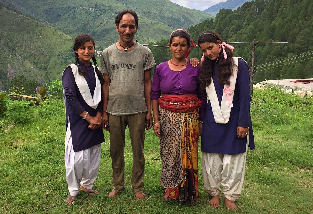 Radhika and Yashoda with their parents