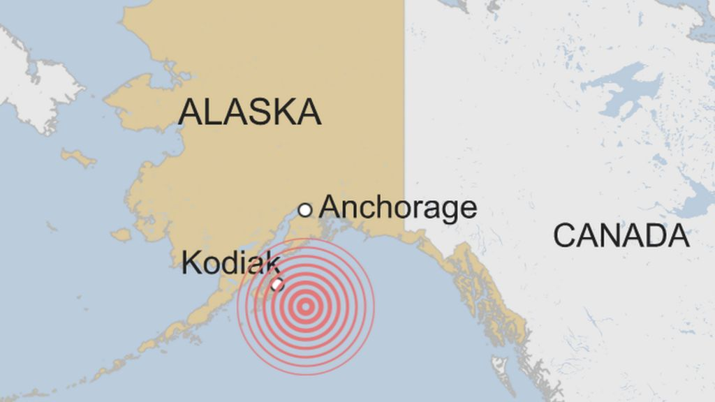 Tsunami alert is issued after an 8.0-strength earthquake off southern Alaska coast.