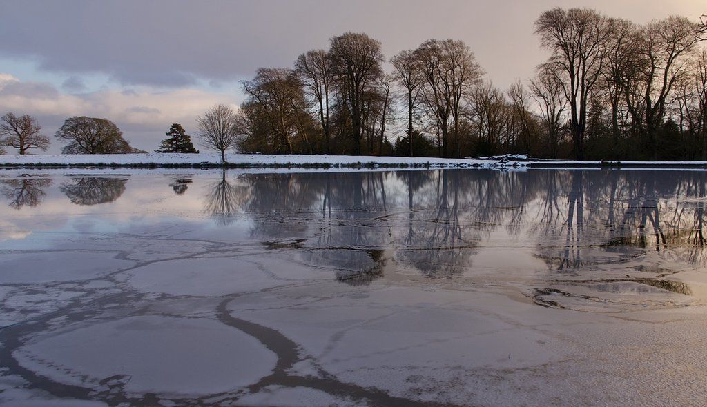 December 2020 - Reflections and ice patterns on the top pond