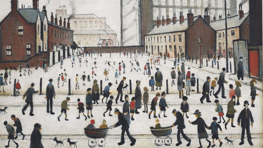 LS Lowry: Lost painting to go on sale after 70 years - BBC News