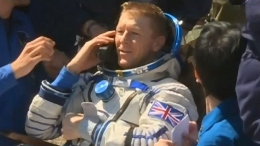 In pictures: Tim Peake's journey home - BBC News