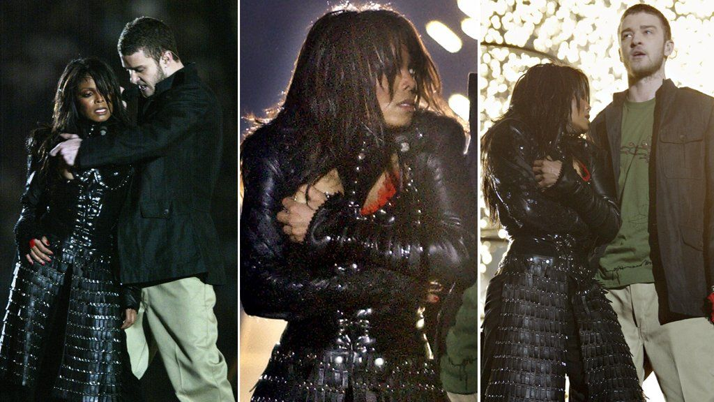 Janet Jackson and Justin Timberlake at the Super Bowl
