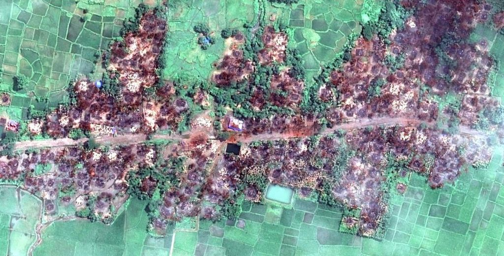 Satellite imagery from Rakhine state