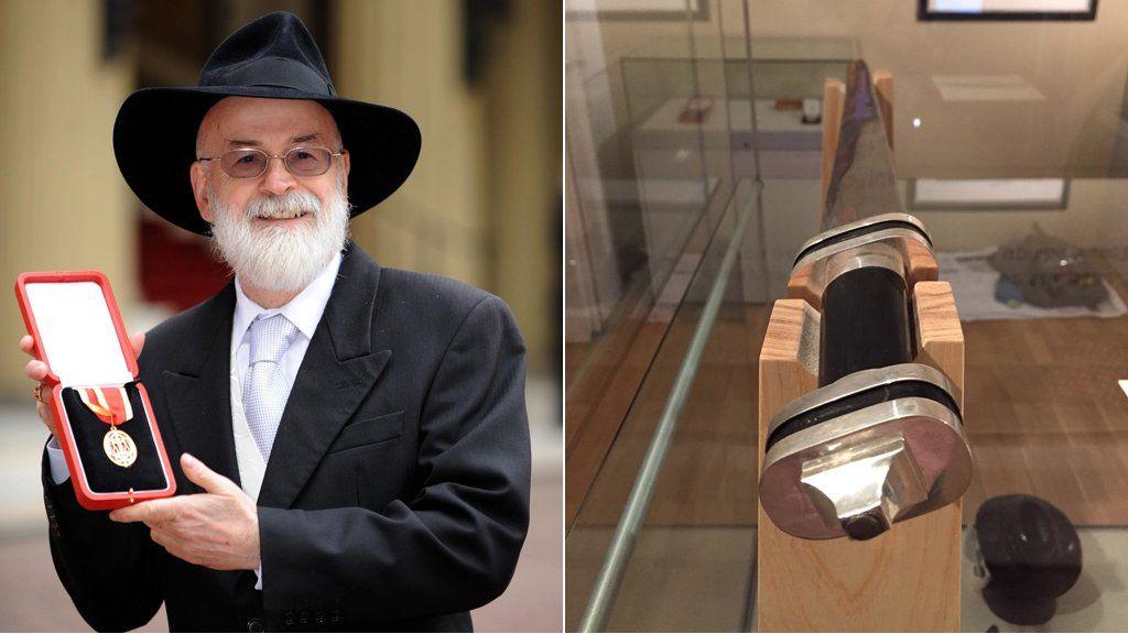 Sir Terry Pratchett and his sword