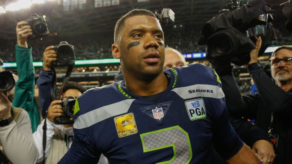 new styles e37f1 c5088 Russell Wilson: Seattle Seahawks quarterback signs NFL's ...