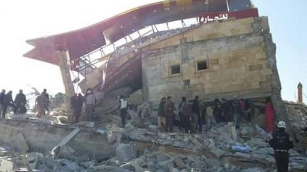 Syria conflict: Air strike destroys MSF-supported hospital - BBC News