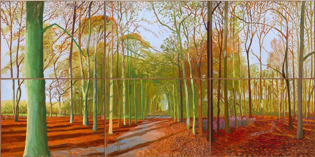 Woldgate Woods, 21, 23 and 29 November 2006 by David Hockney