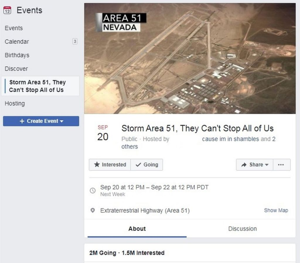 Matty Roberts posted for Storm Area 51 Facebook event in June for a laugh