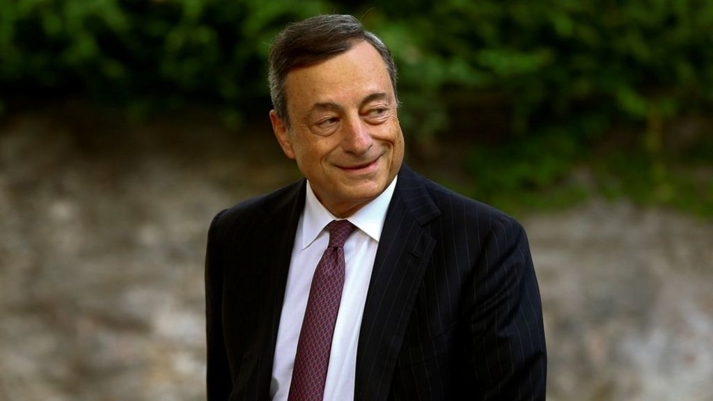 ECB chief Draghi: QE has made economies more resilient - BBC News