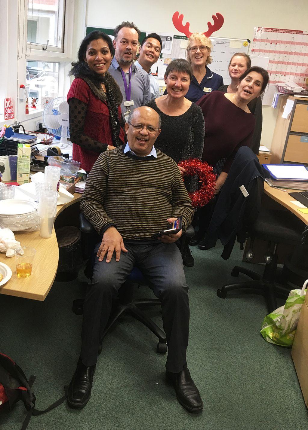 Adil El Tayar with colleagues