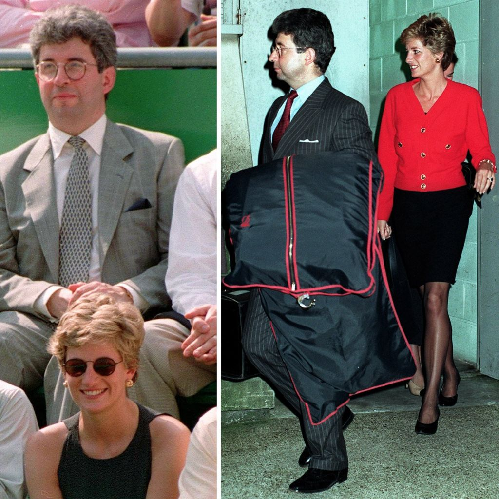 Princess Diana photographed with her then private secretary Patrick Jephson