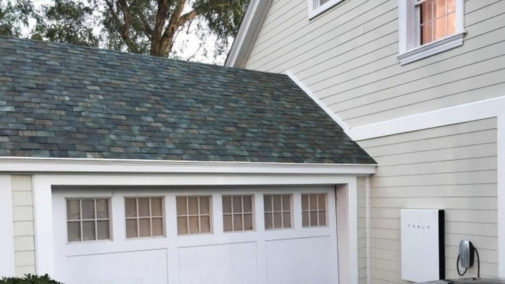 Tesla Shows Off Solar Roof Tiles Bbc News